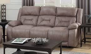 aria power reclining sofa with gel memory foam lay flat capability and power headrest in