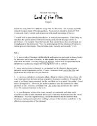 lord of the flies symbolism project english lee lof essays a and b