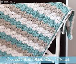 Free Crochet Blanket Patterns Best Shell Stitch Baby Blanket Free Pattern