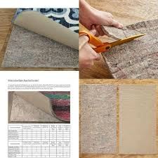 home dual surface felt and latex non slip rug pad 8 x 10 1