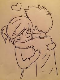 768x1024 lovely cartoon couple pencil sketch pencil drawing love cute