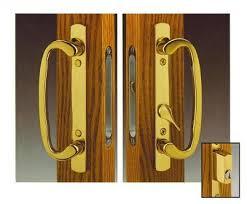 legacy sliding patio door handle set offset thumb turn