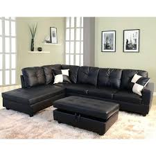 left facing chaise lounge 3 piece faux leather sectional set
