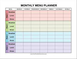 menu planner worksheet monthly menu planner template wwwtopsimagescom calendar for fridge