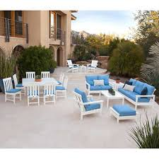 patio furniture white. Prescott 18-piece Estate Collection By POLYWOOD Patio Furniture White I