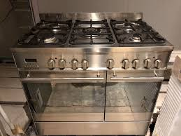 range cooker double electric oven and 5 ring gas hob