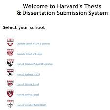 harvard medical school launches submission and archiving of  etd