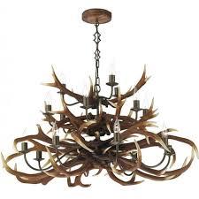 antler large stag horn hanging ceiling pendant light