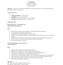 Computer Science Resume Template Impressive Resume Samples Computer Science Engineers Combined With Computer