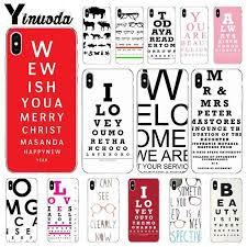 Amazing Charts Phone Number Yinuoda Test Eye Chart Amazing New Arrival Transparent Shell Phone Cover For Iphone X Xs Max 6 6s 7 7plus 8 8plus 5 5s Se Xr