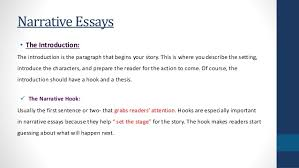 narrative essay starters personal narrative writing the introduction slideshare