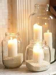 Candle holder with jute and paper