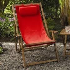 teak sling patio lounge chaise