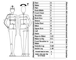 Costume Measurement Sheet Template Printable Costume Measurement Chart Related Keywords