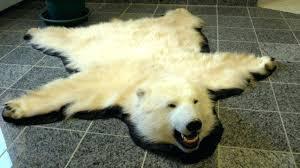 lovely bear skin rug for b0410576 furniture glamorous fake bear skin rug with head real