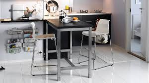the ikea utby table is 120cm high which makes it a good option for people who aren t super tall combine it with a top for 179 more information here