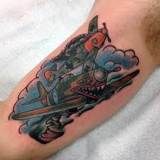 Malé Tetování Letadlo