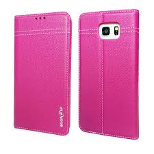 mignova galaxy note 5 wallet case premium genuine leather case card holder with stand flip for samsung galaxy note 5 pink com
