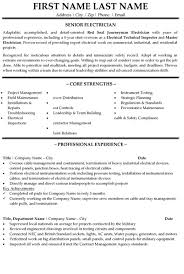 Electrician Resume Stunning Senior Electrician Resume Sample Template
