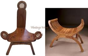 wooden roman style chairs