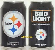 Steelers Bud Light Cans For Sale 2016 Pittsburgh Steelers Nfl Kickoff Bud Light Beer Can Team Sports Fan Football