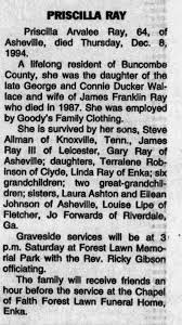 Obituary for PRISCILLA RAY Ray (Aged 64) - Newspapers.com