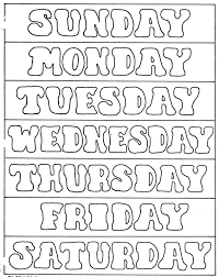 02e200af813dca88d5c0a858a2e167a7 days of the week printables days of the week pinterest on word template weekly schedule