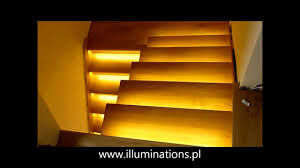 automatic led stair lighting. stair light controller reactive lighting system automatic led youtube led p