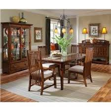 artisan ridge rustic mission style dining set by broyhill furniture dining room