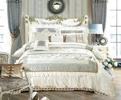 white king duvet cover cotton silk queen king size white beige luxury royal bedding set duvet