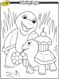 Small Picture Turtle Mommy Coloring Page crayolacom