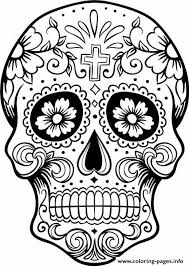 Small Picture Print intricating sugar skull printable for adults coloring pages