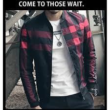 new fashion brand jacket men trend korean slim fit mens designer clothes men casual jacket
