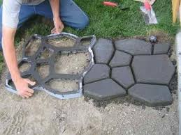 mold for making concrete flagstone. Other molds can be found on .