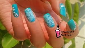 White Lace Nail Art with Water Slide Decals – Bombastic Nail Art
