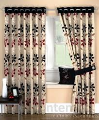 Photo 6 of 7 Ariel Red Black Ready Made Eyelet Curtain ( Ariel Curtains #6)