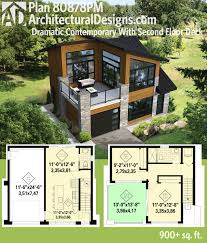 Small Picture Plan 80878PM Dramatic Contemporary with Second Floor Deck