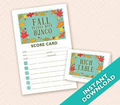 Bunco Score Sheets Template Enchanting Fall In Love With Bunco Printable Autumn Bunco Score And Etsy