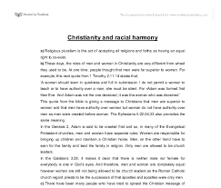 christianity and racial harmony gcse history marked by  document image preview