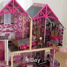 barbie doll house furniture. Kidkraft Bella Wooden Kids Dolls House \u0026 Furniture Fits Barbie Dollhouse New Doll