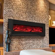 amantii advanced series 58 inch wall mount built in electric fireplace black glass wm bi 58 gas log guys