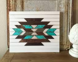 aztec wall art southwestern reclaimed wood wooden home decor barn wood tribal on southwestern wood wall art with rustic reclaimed aztec wall hanging home decor southwestern