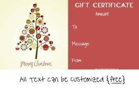 free printable christmas gift certificate templates printable christmas gift certificate aesthetecurator com
