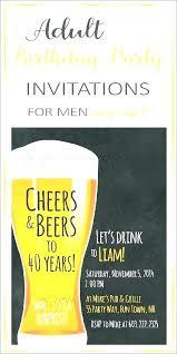 surprise party invitations templates free birthday invitation 40th for men