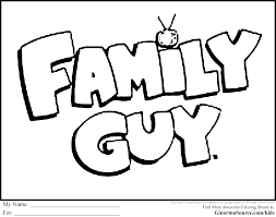 Small Picture Family Guy Coloring Pages Logo Coloring Pages Pinterest