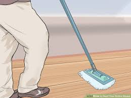 dusting wood furniture. image titled dust your entire house step 11 dusting wood furniture p
