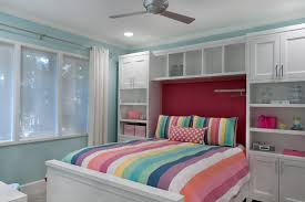 teen bedspreads kids traditional with baseboards bedroom blue walls built in bed built in storage ceiling baseboards ceiling fan