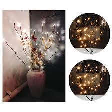 MAGIC <b>LED</b> Willow <b>Branch Lamp</b> Floral Lights 20 Bulbs Home ...
