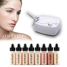 amazon aeroblend airbrush makeup personal starter kit professional cosmetic airbrush makeup system light foundation color match guarantee full
