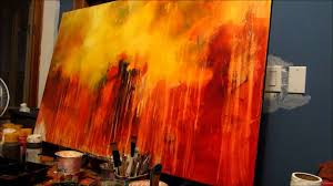 abstract easy acrylic painting ideas